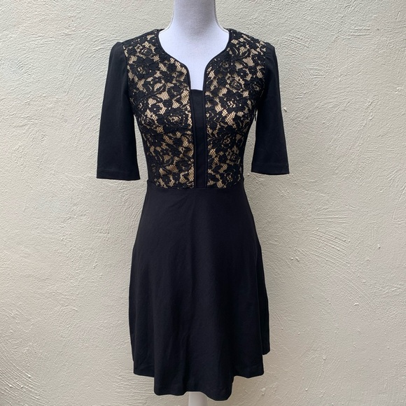 Betsey Johnson Dresses & Skirts - BETSEY JOHNSON BLK LACE OVERLAY COCKTAIL Dress